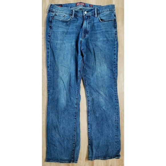 Lucky Brand Mens 367 Vintage Boot Blue Jeans 36